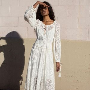 Gossamer Scalloped Midi Dress